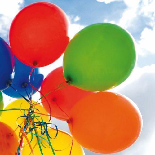 "Greeting card ""Colourful balloons"""