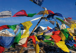 "Greeting card ""Prayer flags in the Himalayas"""