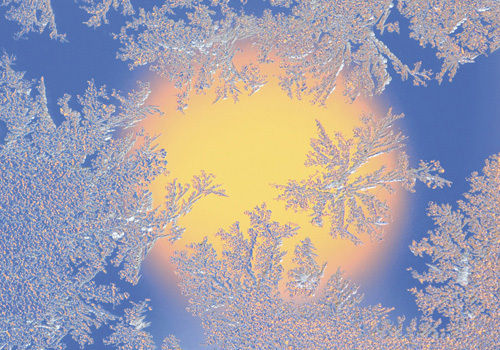 "Greeting card ""Ice crystal"""