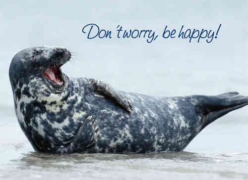 "Postkarte ""Don`t worry, be happy!"""