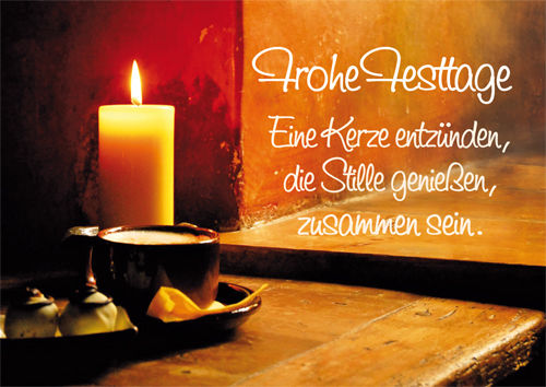 "Greeting card ""Frohe Festtage"""