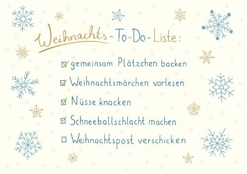 "Greeting card ""to-do-list for christmas"""