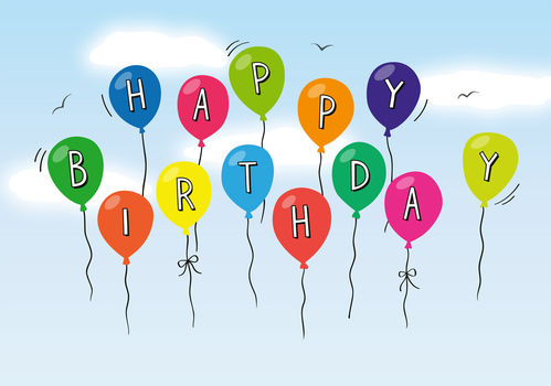 "Greeting card ""Luftballons"""